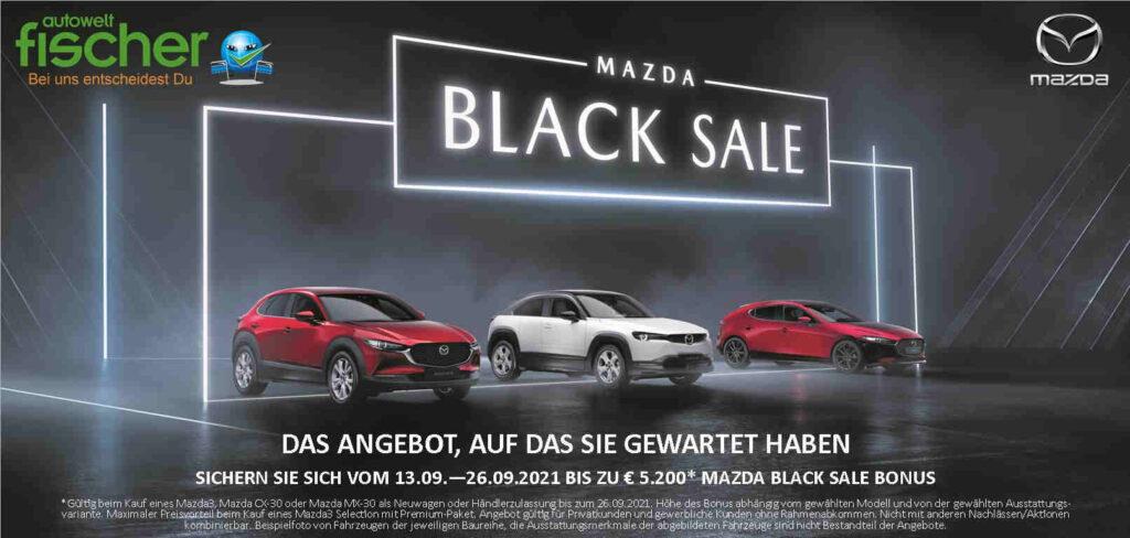 Mazda3_Mazda_CX-30_Mazda_MX-30_Marktoberdorf_Kaufbeuren_Kempten_Fuessen_Schongau_Black_Sale_Banner